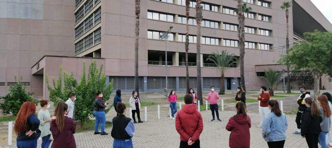Visita de Pablo y Mayte antiguos alumnos de CESUR